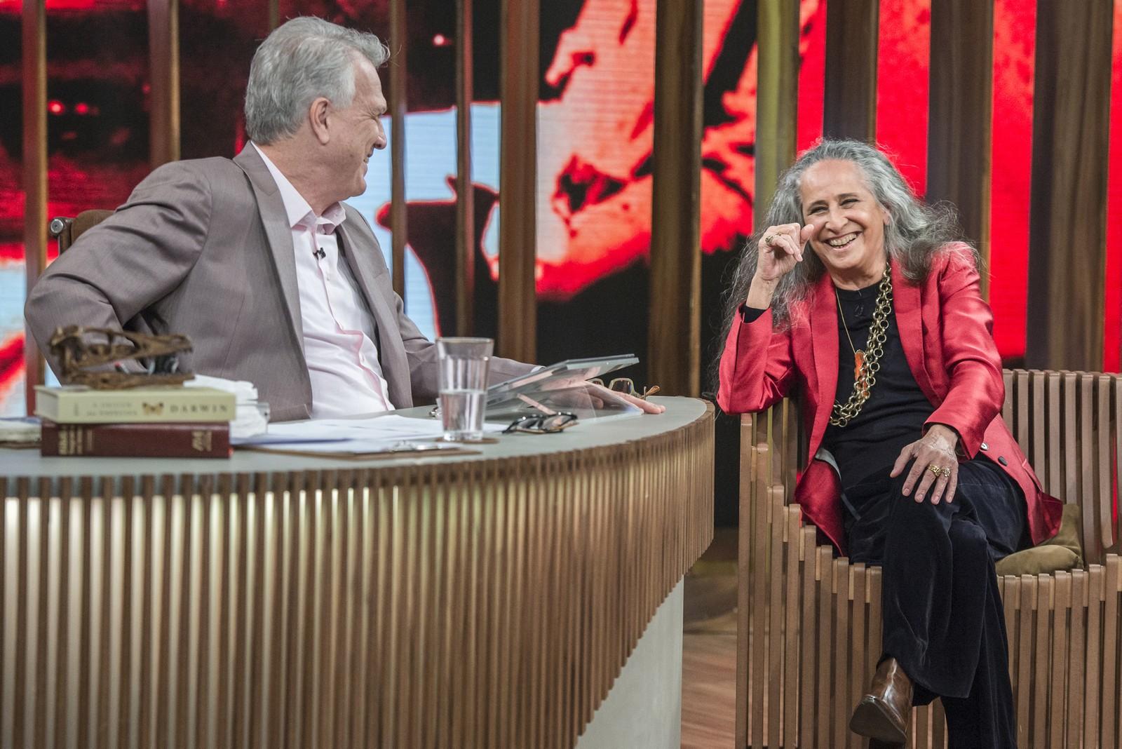 """Maria Bethânia participou do """"Conversa Com Bial"""" (Foto: Divulgação/TV Globo)"""