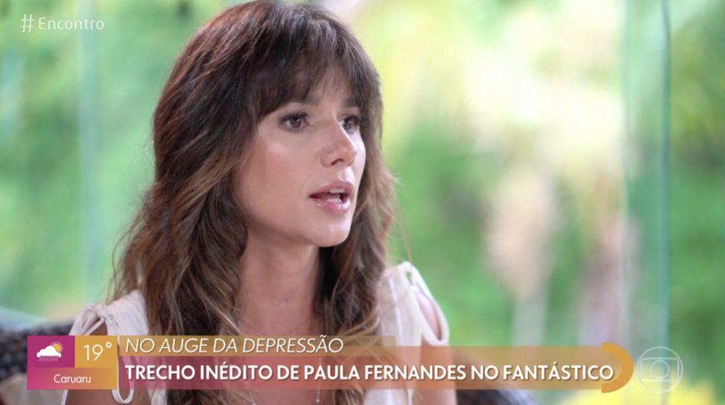 Paula Fernandes da Globo revelou tristeza ao vivo na Globo e falou sobre depressão (Foto reprodução)