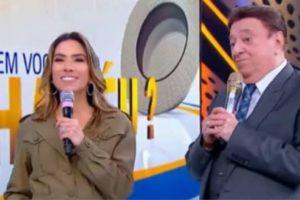 Raul Gil recebeu Patrícia Abravanel em seu programa do SBT no último sábado. (Imagem: Reprodução)