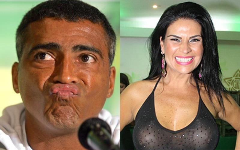 O ex-jogador da seleção brasileira, Romário é exposto por Solange Gomes (Foto: Montagem TV Foco)