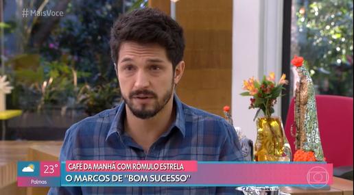 Rômulo Estrala de Bom Sucesso, no programa Mais você da Globo, apresentado por Ana Maria Braga (Foto: Reprodução)