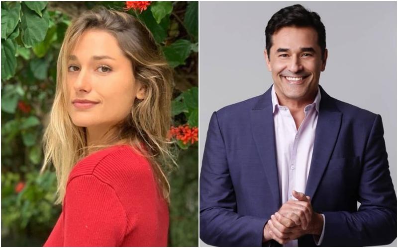 A filha da apresentadora da Record, Xuxa, Sasha Meneghel e o seu pai, o ator Luciano Szafir (Foto: Montagem TV Foco)