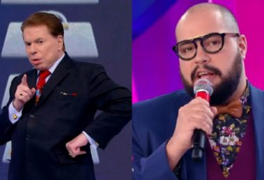 O apresentador e dono do SBT, Silvio Santos e o seu neto e ex-contratado da Globo, Tiago Abravanel deram o que falar (Foto: Montagem TV Foco)