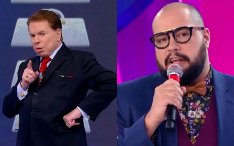 O apresentador e dono do SBT, Silvio Santos e o seu neto, Tiago Abravanel deram o que falar (Foto: Montagem TV Foco)