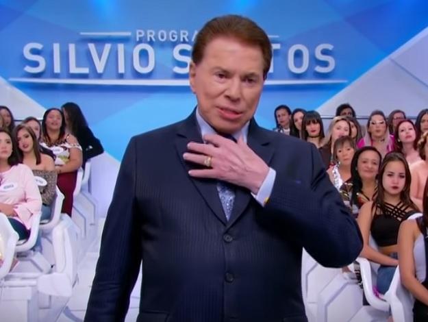 O apresentador Silvio Santos ficou sem voz (Foto: Reprodução)