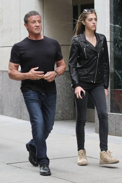 Sylvester Stallone e Sistine Stallone (Foto: Reprodução)