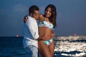 O filho da atriz da Globo, Gretchen, Thammy Miranda e sua esposa, a modelo fitness, Andressa Ferreira (Foto: Reprodução)