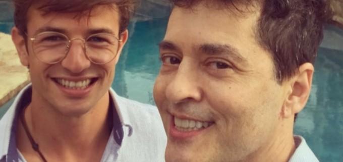 Tiago Santiago e o Marido Davi Stepurski. Foto: Reprodução