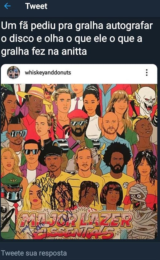 Pabllo Vittar provoca funkeira Anitta. Foto: Reprodução