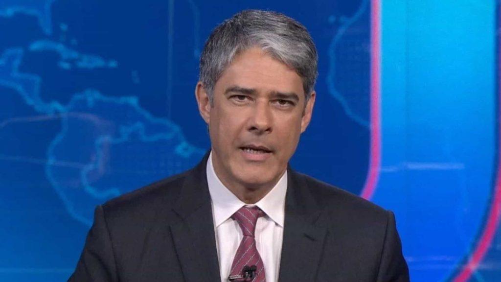 O jornalista William Bonner durante o Jornal Nacional (Foto: Reprodução)