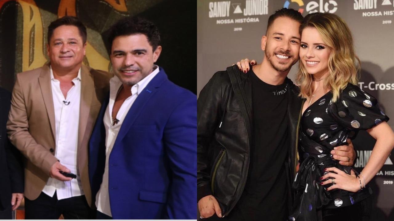 Zezé Di Camargo e Leonardo fizeram comentários ácidos sobre o aniversário de 30 anos de carreira de Sandy & Junior (Foto: Reprodução/TV Globo/Instagram/Montagem TV Foco)