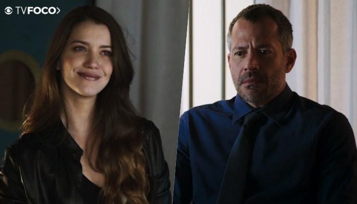 Fabiana (Nathalia Dill) sofrerá vingança de Agno (Malvino Salvador) em A Dona do Pedaço (Foto: Reprodução/Globo)