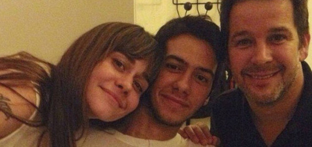 Alessandra Negrini, Antonio Benicio Negrini e Murilo Benício Foto: Reprodução