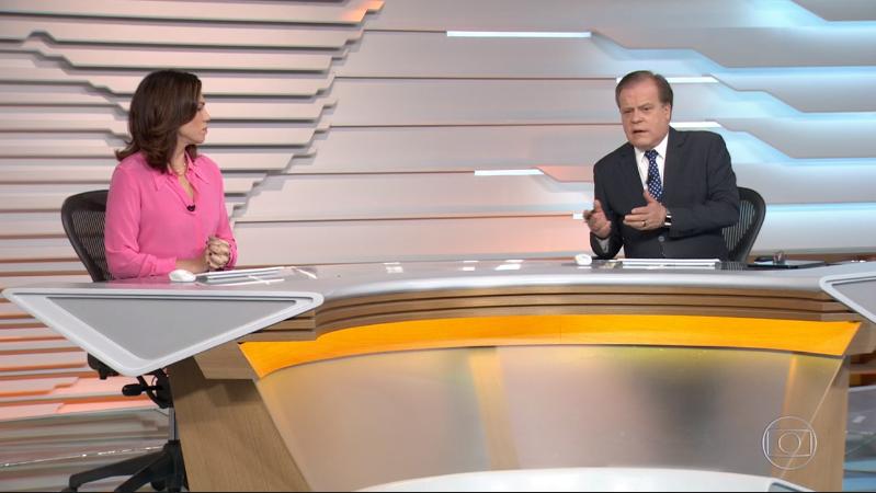 Ana Paula Araújo e Chico Pinheiro no Bom Dia Brasil (Foto: Reprodução/Globo)