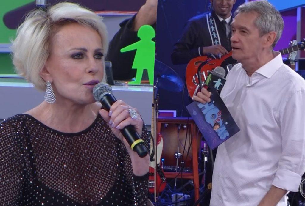Ana Maria Braga teve segredo exposto ao vivo no Altas Horas comandado por Serginho Grosimann da Globo (Foto montagem: TV Foco)