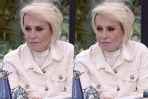 Ana Maria Braga recebeu declaração ao vivo na Globo e ficou sem graça