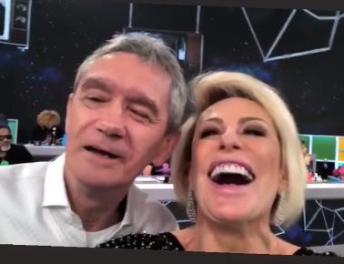 Apresentadora da TV Globo Ana Maria Braga e Serginho Groisman (Foto: Reprodução/ Instagram)