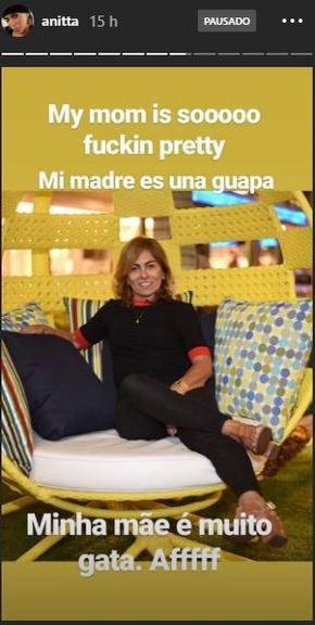 Anitta fez questão de enaltecer a beleza de sua mãe, Mirian Macedo (Foto: Reprodução/ Instagram)