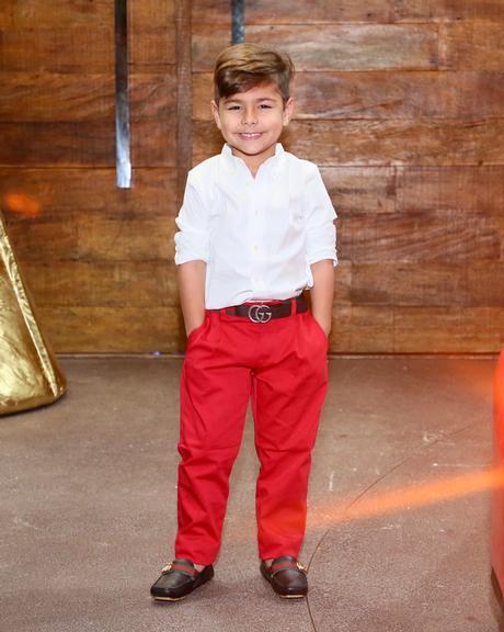 Aniversário de 5 anos de Herny, filho de Simone e Kaká Diniz. (Foto: Reprodução)