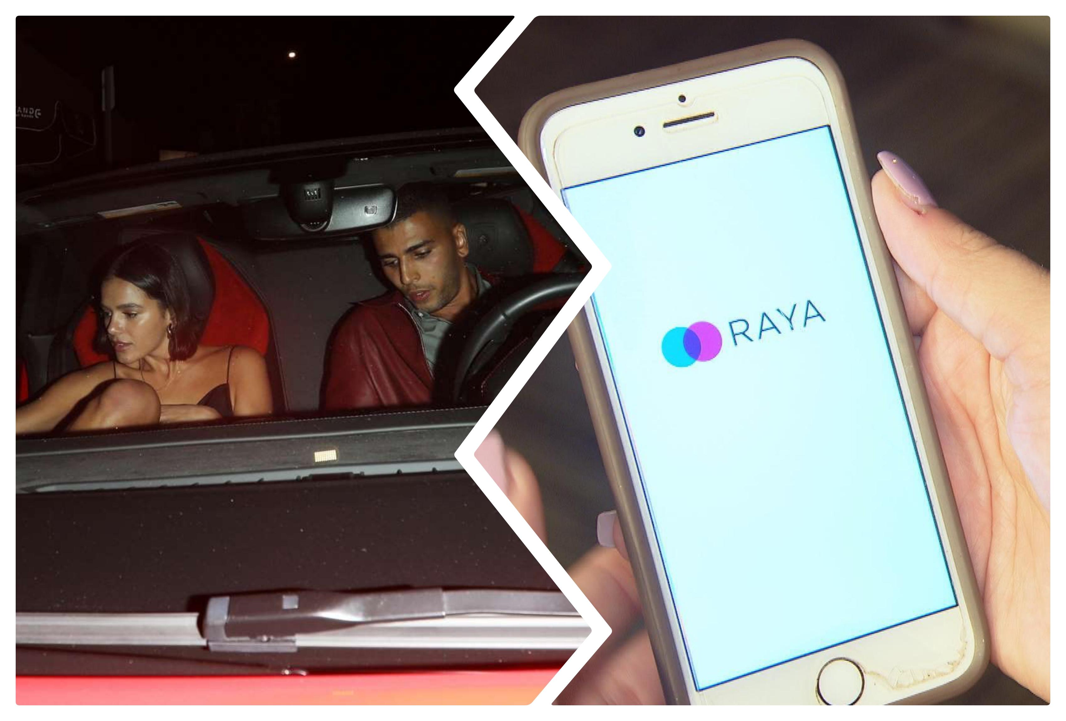Bruna Marquezine e Younes. Logo do aplicativo Raya [tinder dos ricaços] Foto: Reprodução