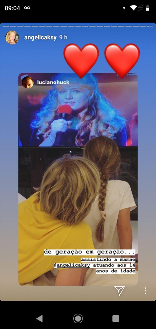 Os filhos da apresentadora ficaram impressionados com a mãe jovem