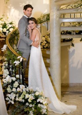 Imagem inédita mostra Alexandre Pato e Rebeca Abravanel após cerimônia de casamento (Foto: Reprodução/Instagram)