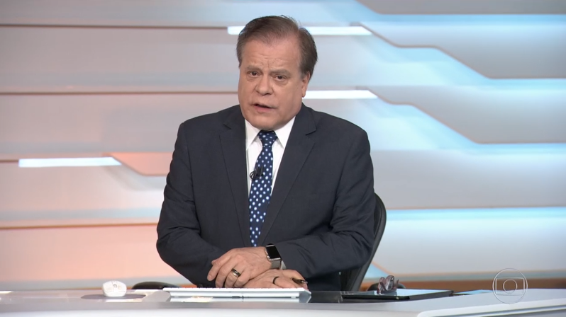 Chico Pinheiro no Bom Dia Brasil, hoje (13); jornalista detonou polícia (Foto: Reprodução/Globo)