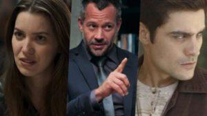 Fabiana, Agno e Leandro se envolvem em ligação explosiva em A Dona do Pedaço