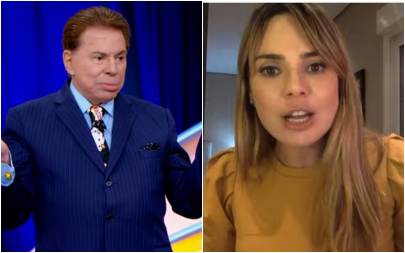A apresentadora do SBT Brasil, Rachel Sheherazade e Silvio Santos (Foto: Montagem TV Foco)