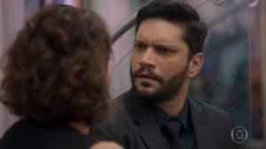 Diogo fica em choque em Bom Sucesso na Globo