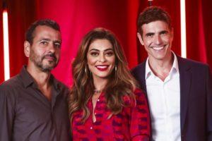 Marcos Palmeira ao lado de Juliana Paes e Reynaldo Gianecchini. (Foto: Divulgação)