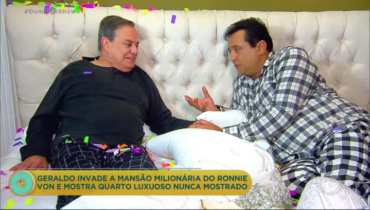 Geraldo Luís esteve dentro da mansão de Ronnie Von e revelou todos os detalhes na Record (Foto: Reprodução)