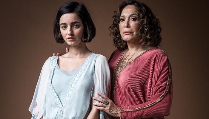 Julia Stockler (Justina) e Susana Vieira (Emília) em Éramos Seis, nova novela das seis da Globo (Foto: Raquel Cunha/Globo)