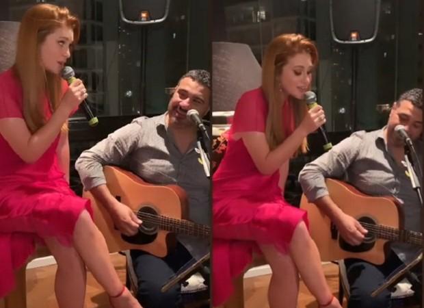 Marina Ruy Barbosa mostrou que além de atuar também sabe cantar (Foto: Reprodução/ Instagram)