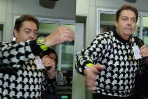 Faustão ao vivo na Globo ficou bravo com situação e abandonou o palco (Foto reprodução)