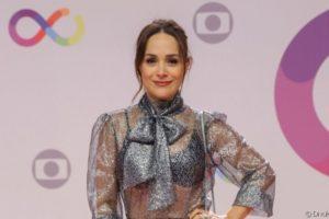 Gabriela Duarte durante evento de inauguração dos novos estúdios da Globo Imagem Divulgação Globo)
