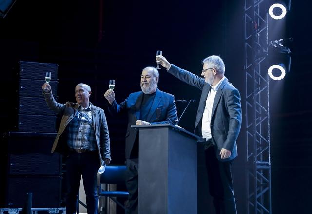 Jorge Nóbrega, Roberto Irineu Marinho e Carlos Henrique Schroder na inauguração dos novos estúdios (Foto: Raquel Cunha)