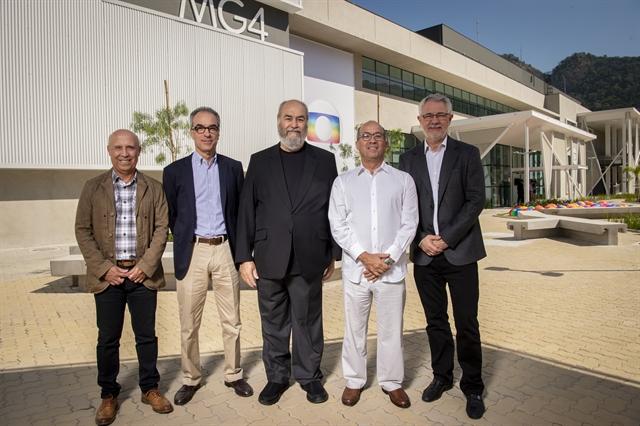 Jorge Nóbrega, João Roberto Marinho, Roberto Irineu Marinho, Jose Roberto Marinho e Carlos Henrique Schroder (Foto: Globo/Estevam Avellar)