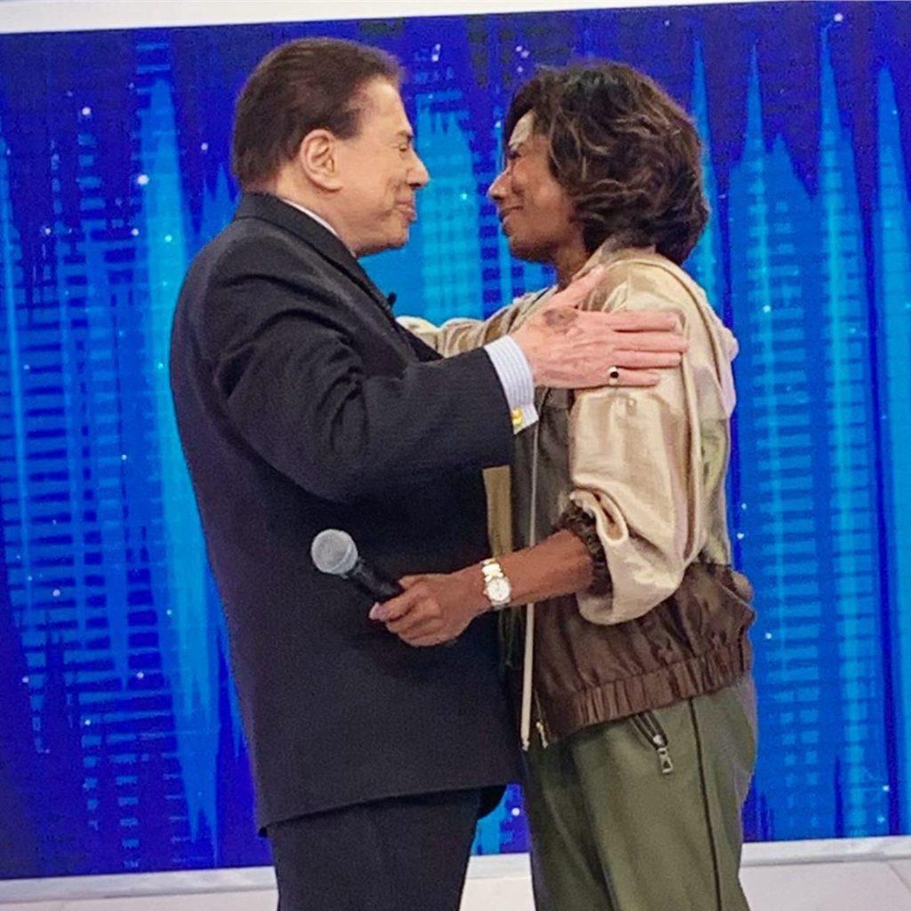 Gloria Maria e Silvio Santos (Reprodução)