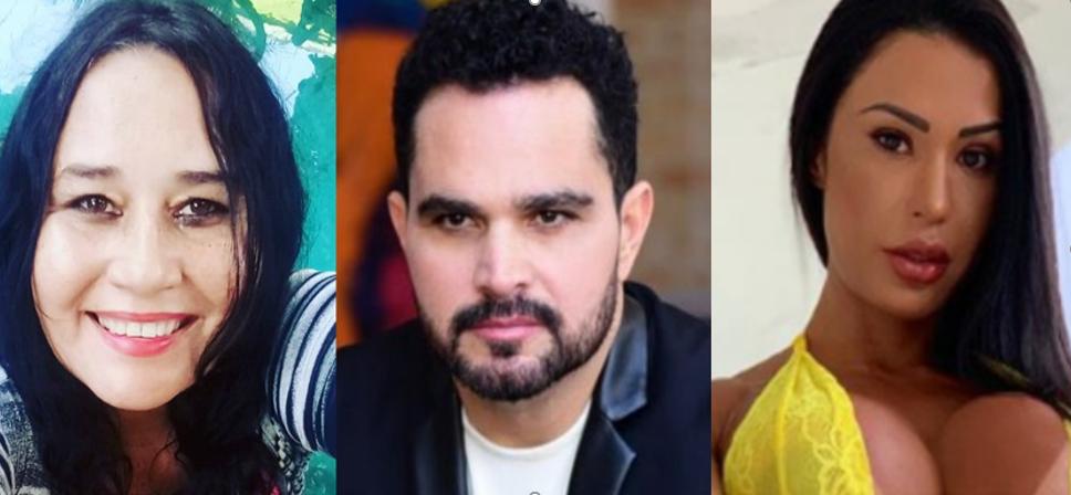 Cléo Loyola, Luciano e Gracyanne Barbosa eposa de Belo (Foto: Montagem/TV Foco)