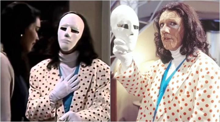 Adonay fazia sucesso como o homem mascarado de A Viagem. (Foto: Montagem/Reprodução)