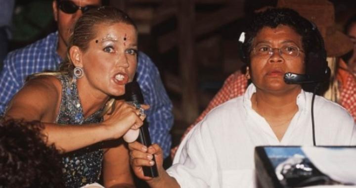 Xuxa ao lado de Marlene nos bastidores de programa. (Foto: Reprodução)