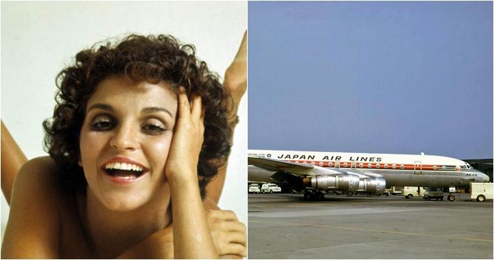 A atriz Leila Diniz estava no voo da Japan Airlines que caiu na Índia, em 1972. (Foto: Montagem/Reprodução)
