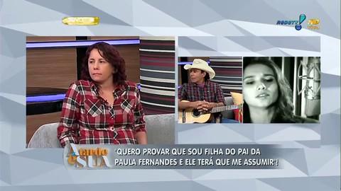 Irmã de Paula Fernandes, Ana Maria busca encontro com a irmã após conseguir registro na justiça (Imagem: Reprodução RedeTV!)
