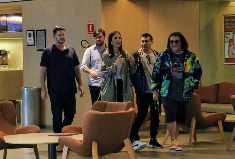 O famoso Gominho estava companhando o grupo de Ivete Sangalo