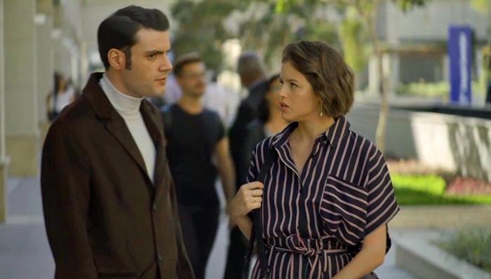Josiane (Agatha Moreira) vai matar namorado de Jardel (Duio Botta) em A Dona do Pedaço (Foto: Reprodução/Globo)