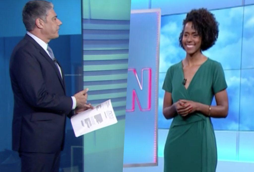 William Bonner cobrou explicações ao vivo de Maju Coutinho no Jornal Nacional (Foto reprodução)