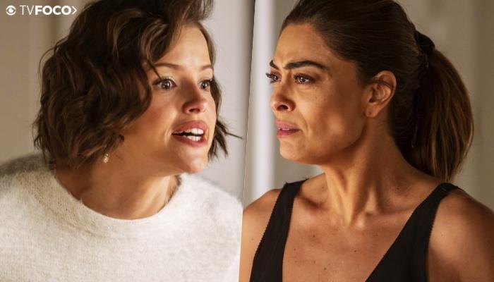 """Josiane """"cospe"""" em Maria da Paz em A Dona do Pedaço na Globo"""