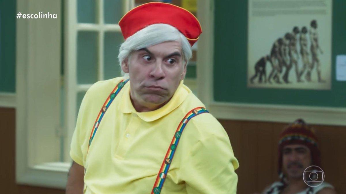Leandro Hassum como Mazarito na Escolinha do Professor Raimundo na Globo (imagem: Reprodução)