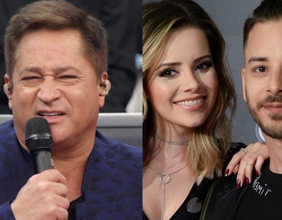 Leonardo criticou show de Sandy e Júnior durante o Altas Horas (Foto: Reprodução/Globo)